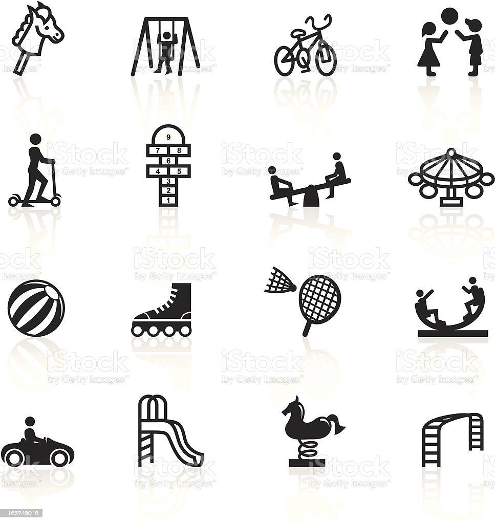Negro símbolos-Patio de juegos - ilustración de arte vectorial