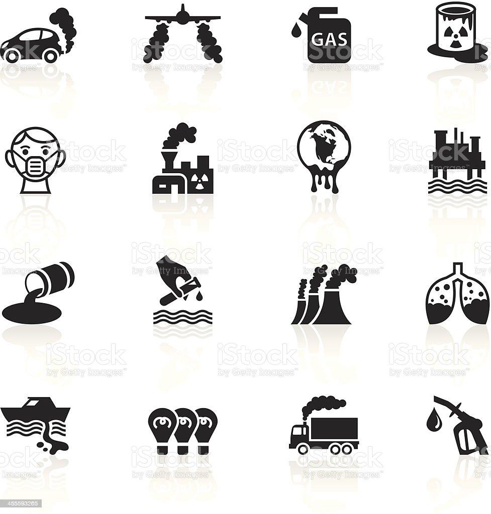 Black Symbols - Pollution vector art illustration