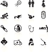 Illustration of Pregnancy and Childbirth icons.