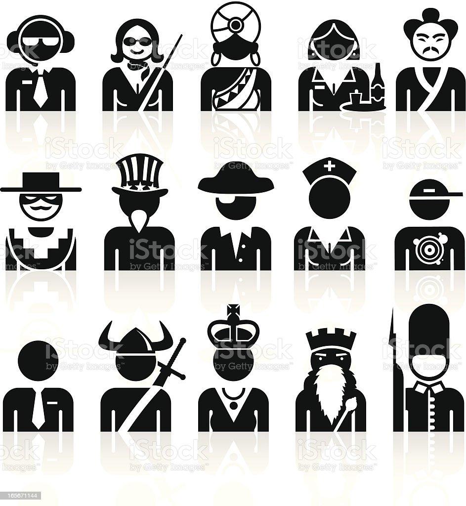 Black symbols professions stock vector art more images of adult black symbols professions royalty free black symbols professions stock vector art amp more buycottarizona Image collections