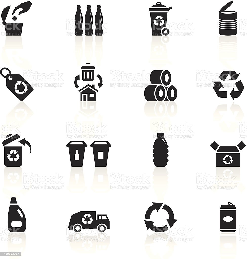Black Symbols - Recycle vector art illustration