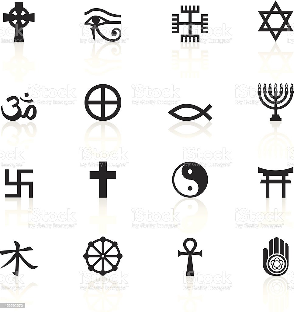 Black symbols religious marks stock vector art more images of black symbols religious marks royalty free black symbols religious marks stock vector art amp biocorpaavc Image collections