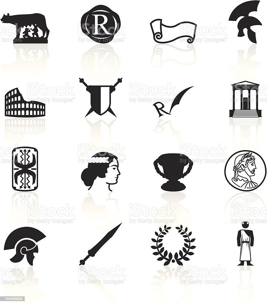 Black Symbols - Roman Empire vector art illustration