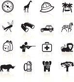 African safari icons.