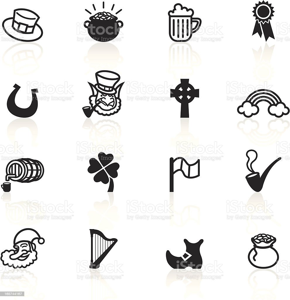 Black Symbols - Saint Patrick's Day royalty-free stock vector art