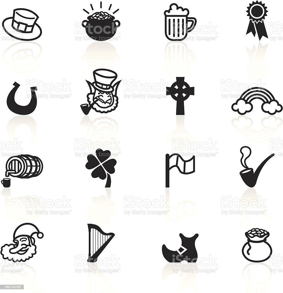 Black Symbols - Saint Patrick's Day vector art illustration