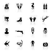 Black Symbols - Scuba Diving