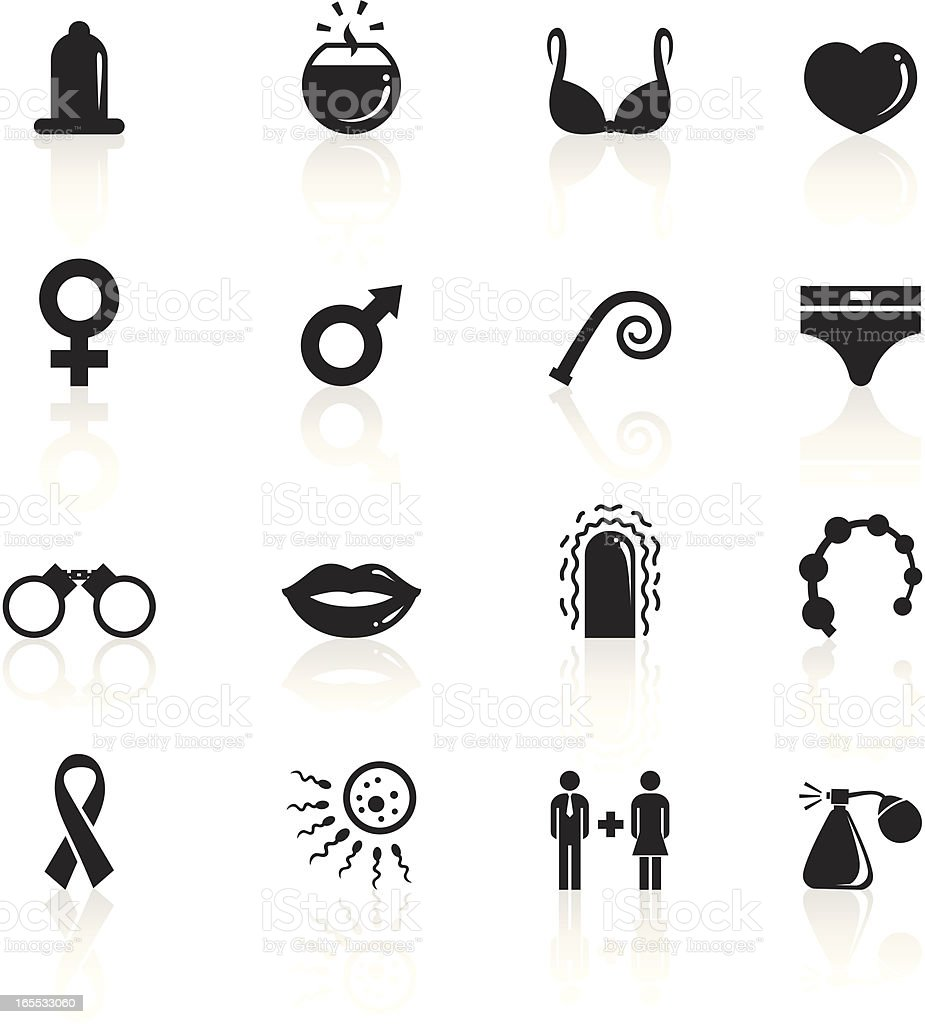 Black Symbols - Sex vector art illustration