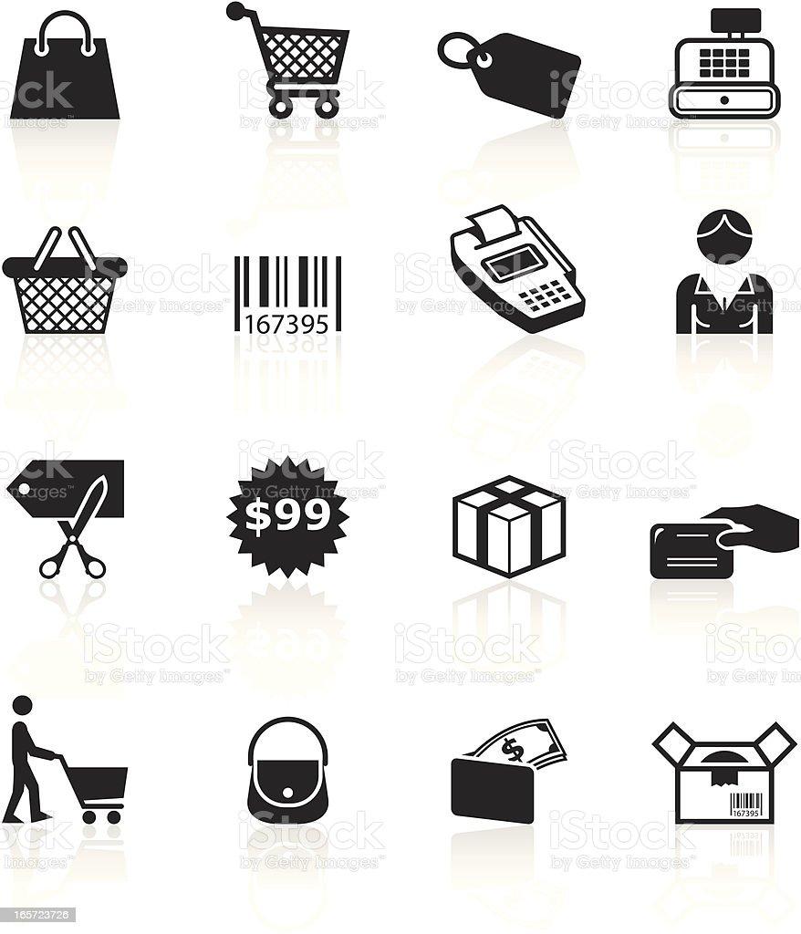 Black Symbols - Shopping royalty-free black symbols shopping stock vector art & more images of bar code