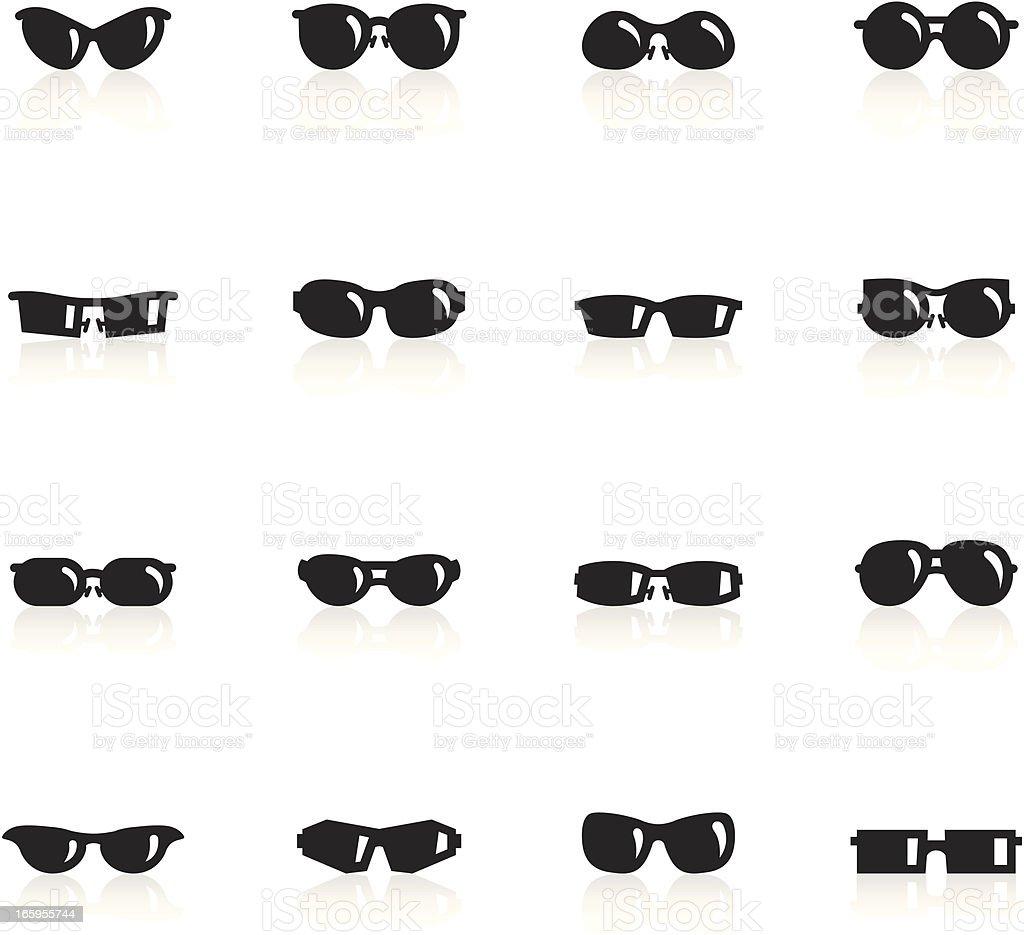 Черные символы-Солнцезащитные очки векторная иллюстрация