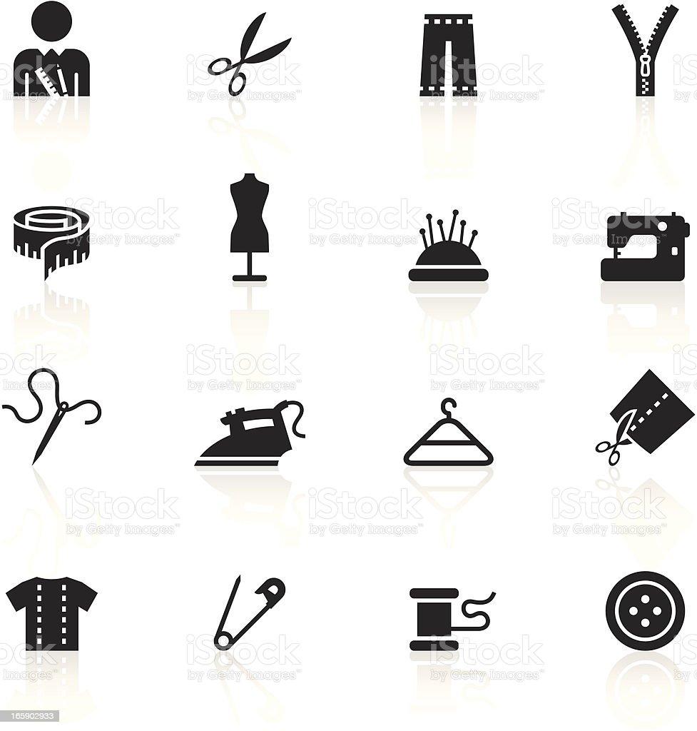 Black Symbols - Tailor vector art illustration