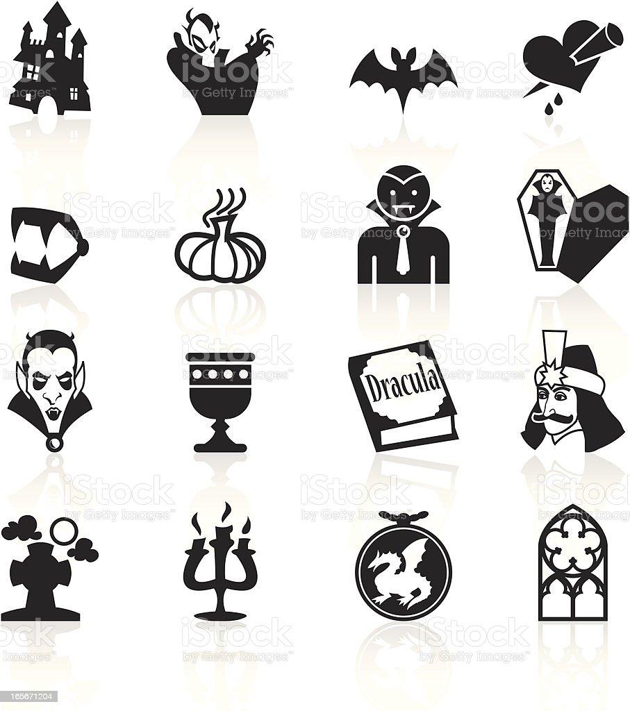 Black Symbols - Vampire vector art illustration