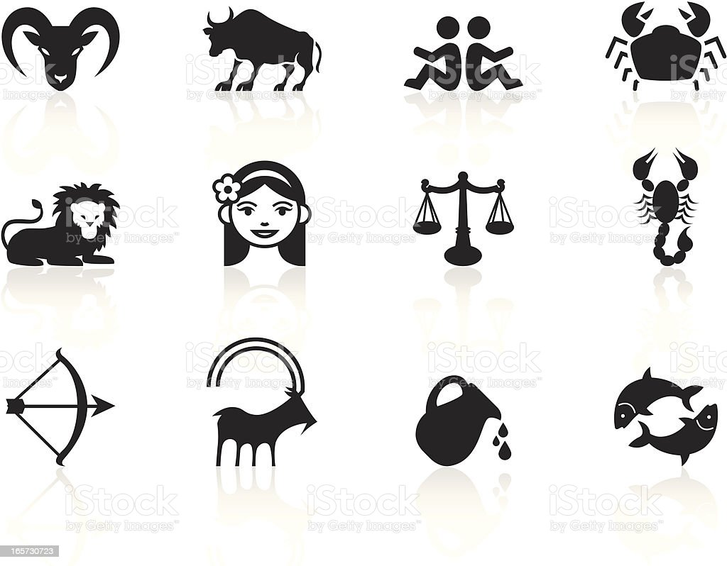 Black symbols zodiac signs stock vector art more images of black symbols zodiac signs royalty free black symbols zodiac signs stock vector art amp biocorpaavc