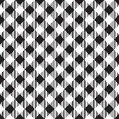 Black and white tablecloth seamless diagonal pattern.
