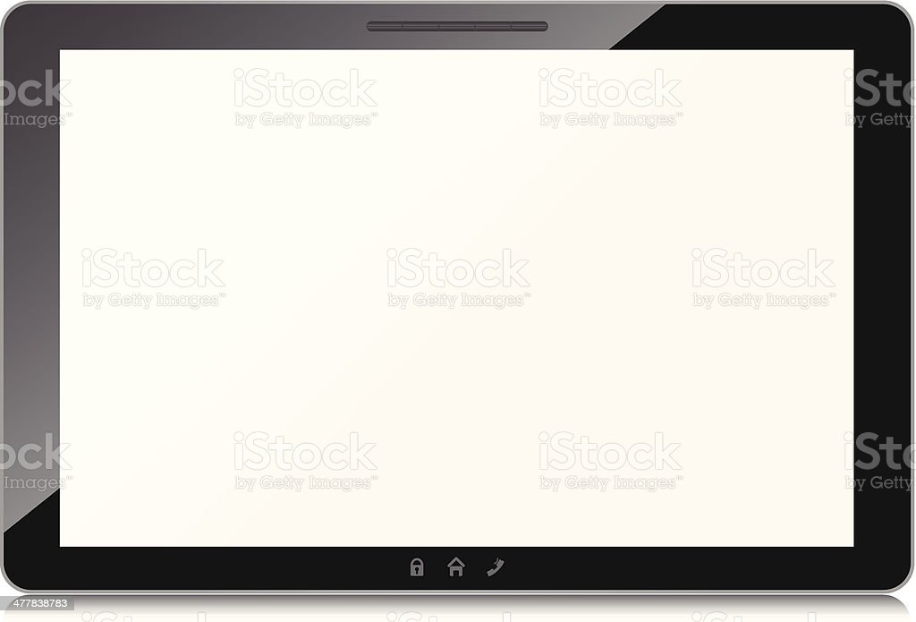 Black tablet computer isolated on white background. Vector. royalty-free black tablet computer isolated on white background vector stock vector art & more images of blank