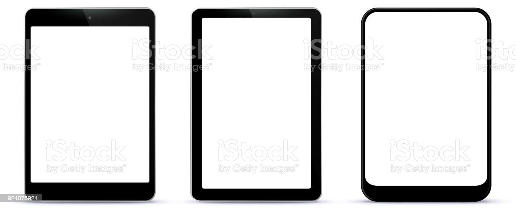 Black Tablet Computers Vector Illustration vector art illustration