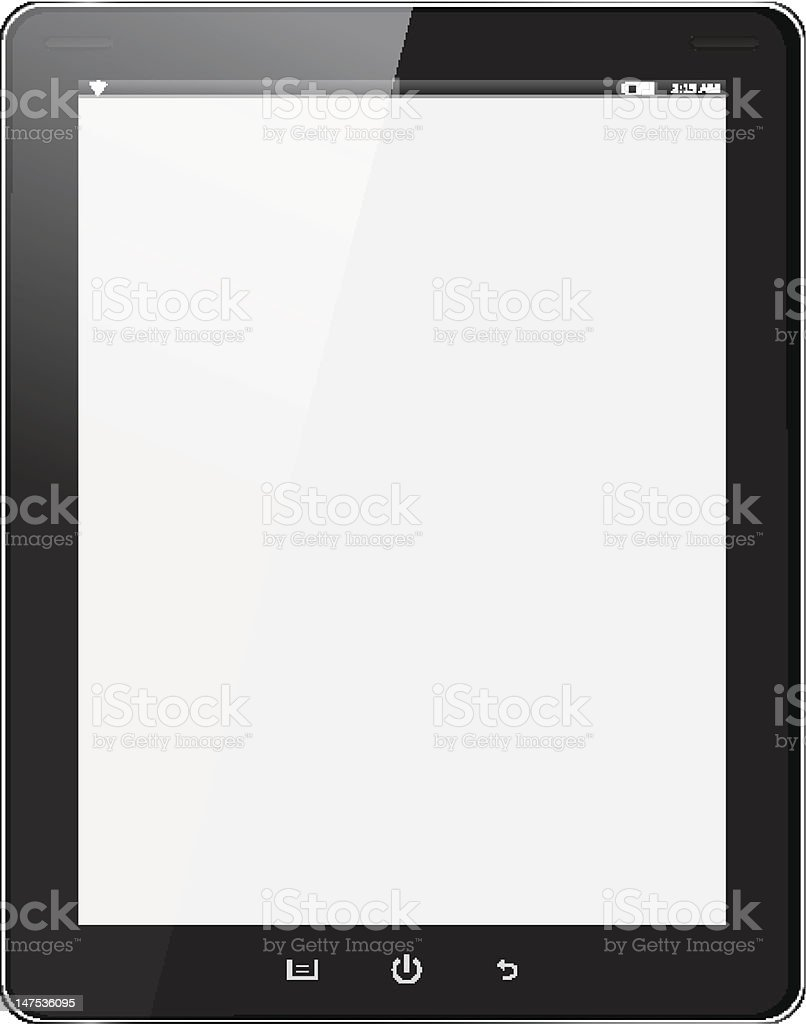 Black tablet PC on white background royalty-free stock vector art