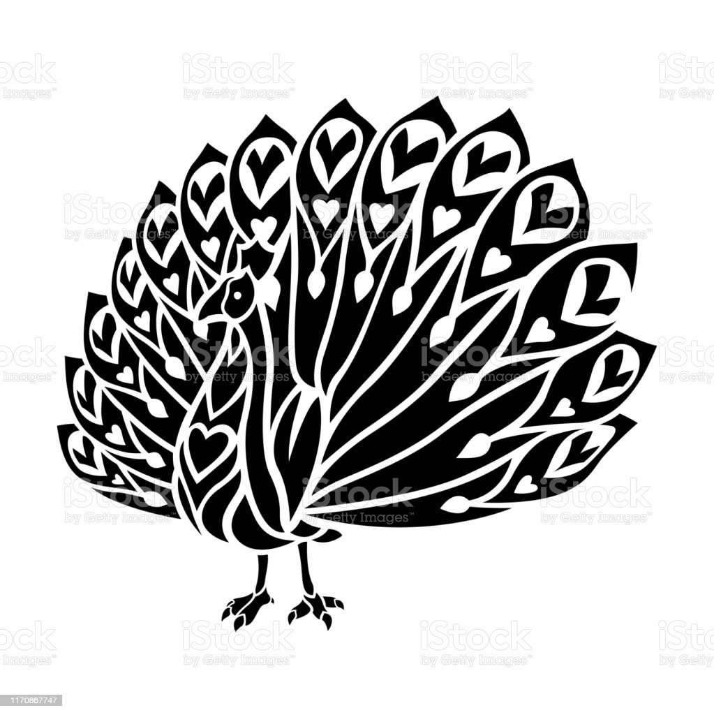 black tattoo art with stylized cartoon peacock stock illustration download image now istock black tattoo art with stylized cartoon peacock stock illustration download image now istock
