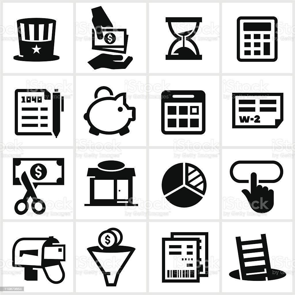 Black Steuern Symbole Stock Vektor Art und mehr Bilder von 1-Dollar ...