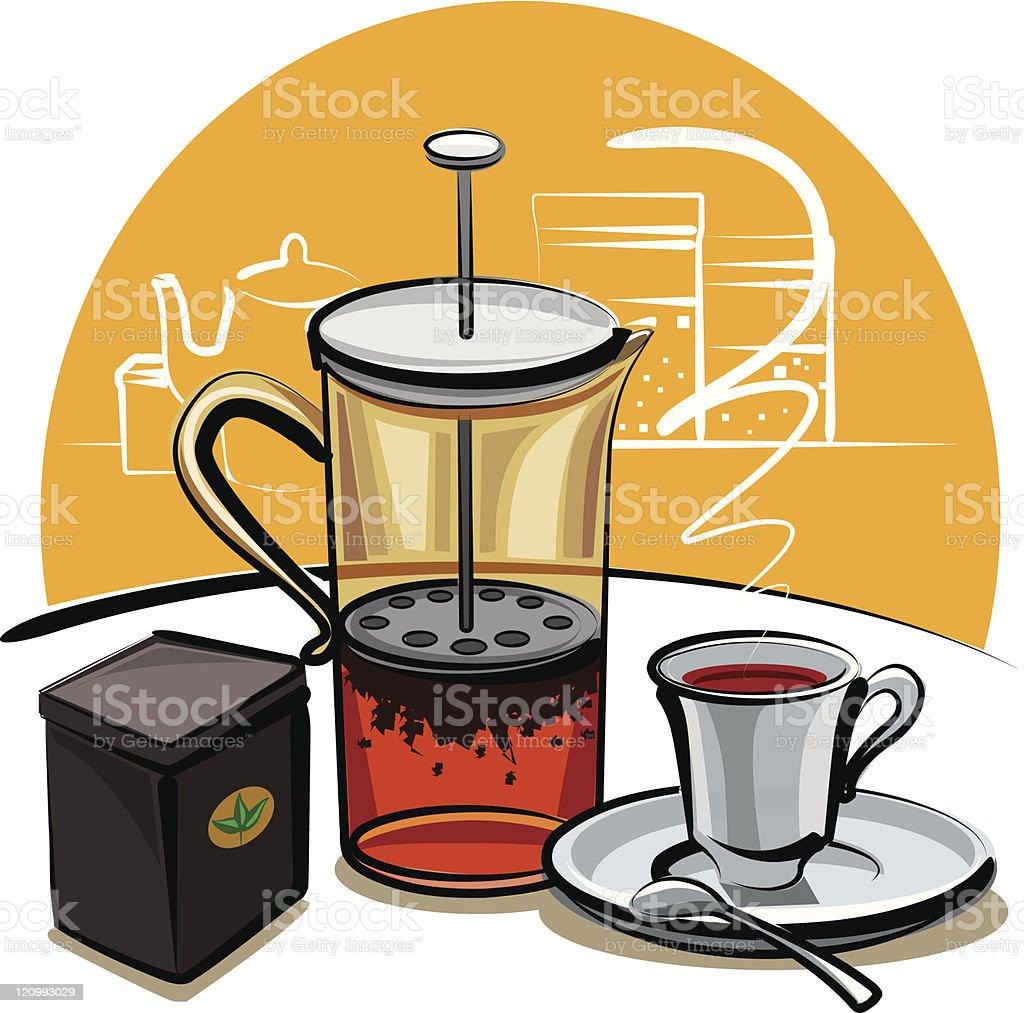 black tea royalty-free stock vector art