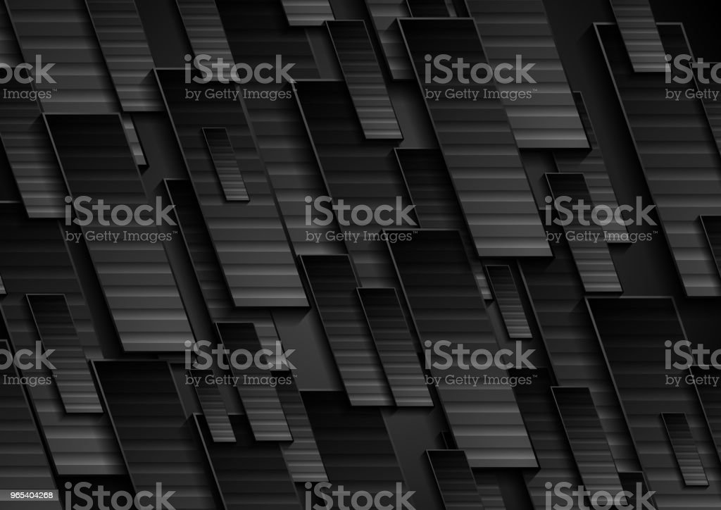 Black technology geometrical abstract background royalty-free black technology geometrical abstract background stock vector art & more images of abstract