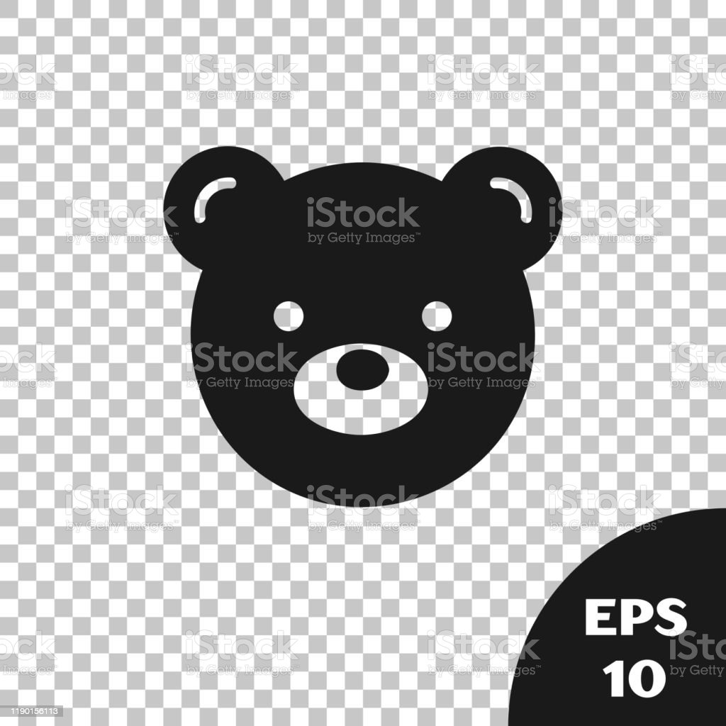 black teddy bear plush toy icon isolated on transparent background vector illustration stock illustration download image now istock https www istockphoto com vector black teddy bear plush toy icon isolated on transparent background vector gm1190156113 337267561