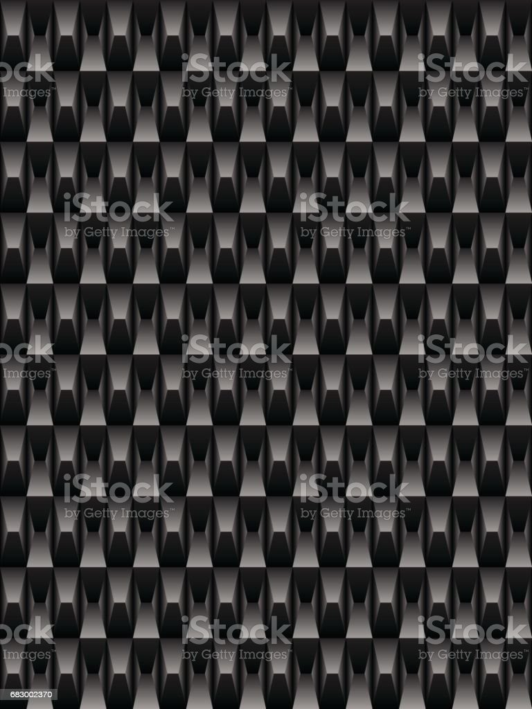 Black texture carbon, geometric seamless background vector vector art illustration