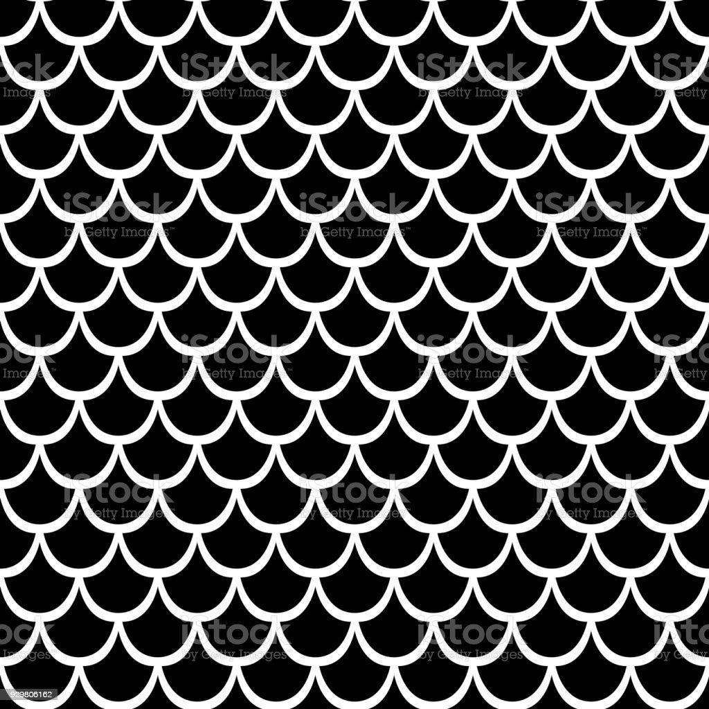 df212f0e942 Zwarte Textuur Van Vis Schubben Naadloze Vector Patroon Leuk Voor ...