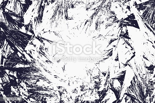 Black texture of ice crystals on a light background.