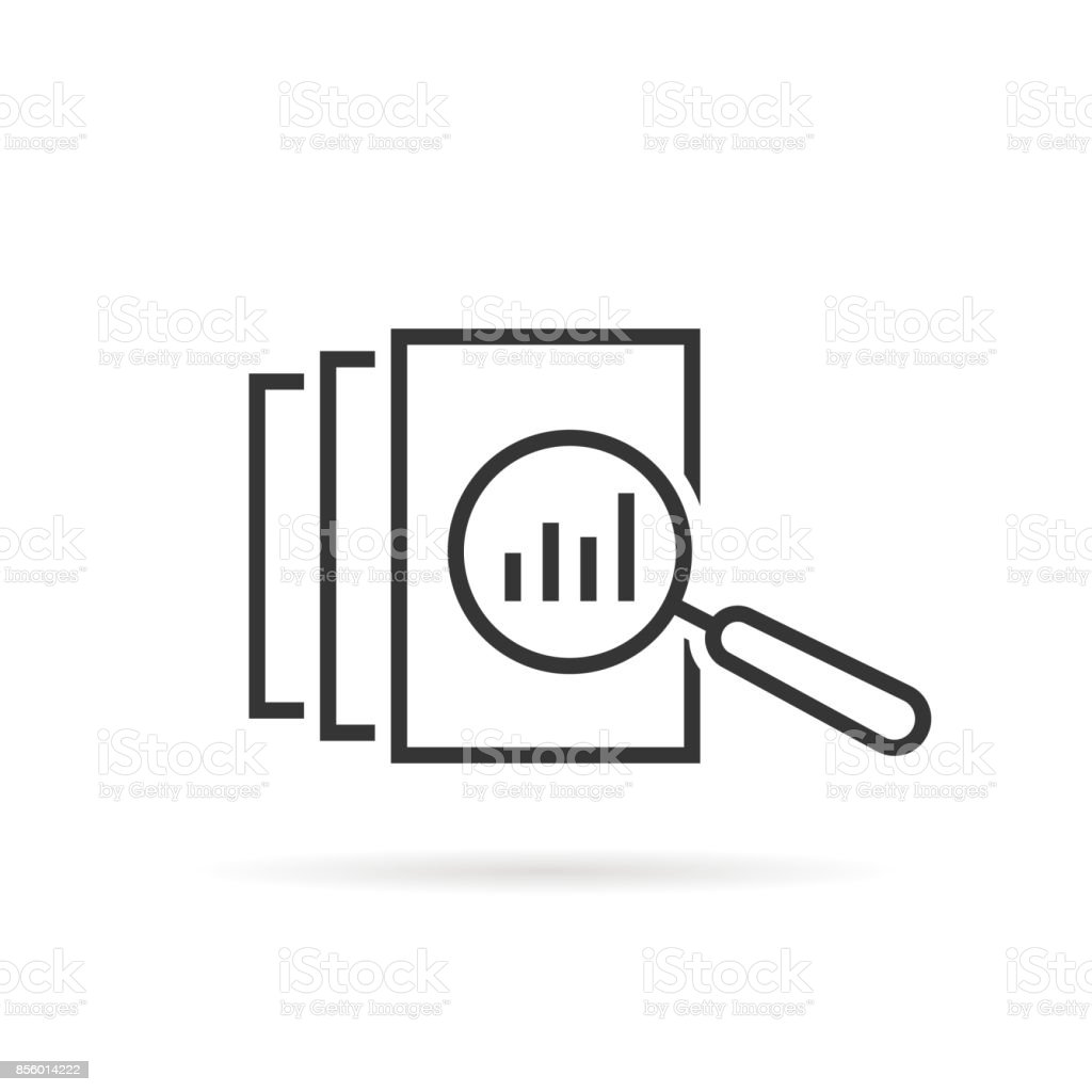 black thin line assessment vector art illustration