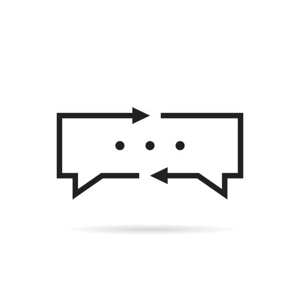 schwarze dünne linie übersetzer - arbeitsvermittlung stock-grafiken, -clipart, -cartoons und -symbole