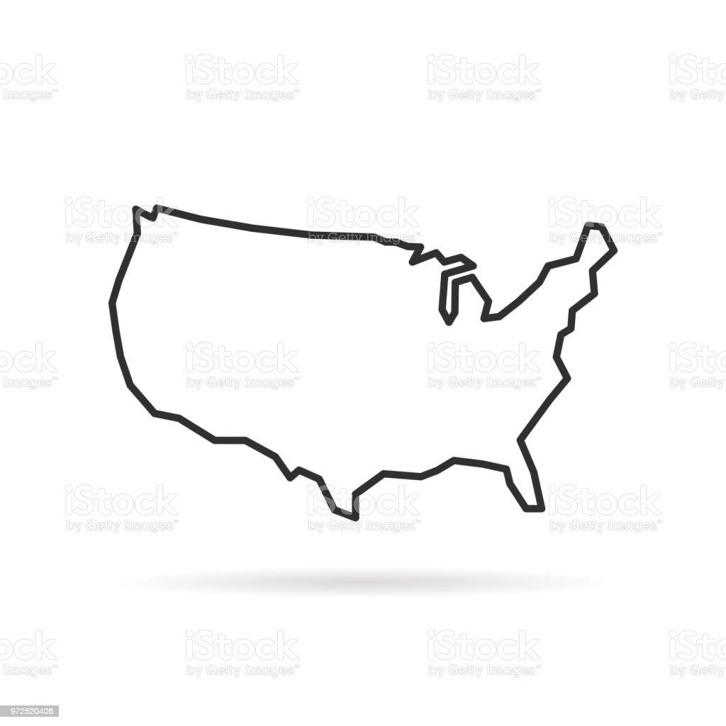 그림자와 함께 검은 얇은 선 미국 아이콘 royalty-free 그림자와 함께 검은 얇은 선 미국 아이콘 0명에 대한 스톡 벡터 아트 및 기타 이미지