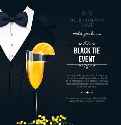 Black Tie Event Invitation.