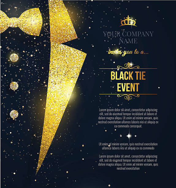 Royalty free gala clip art vector images illustrations istock black tie event invitation vector art illustration stopboris Gallery
