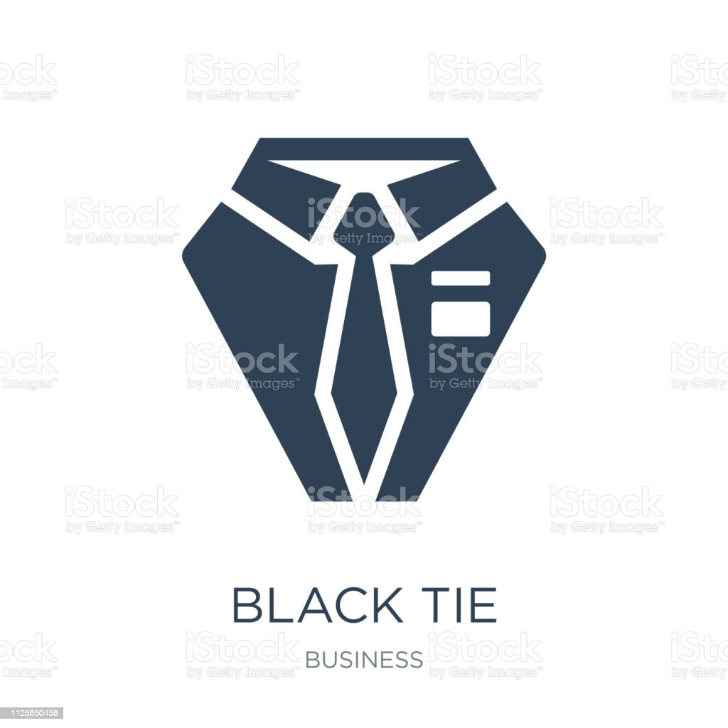 black tie icon vector on white background, black tie trendy filled...