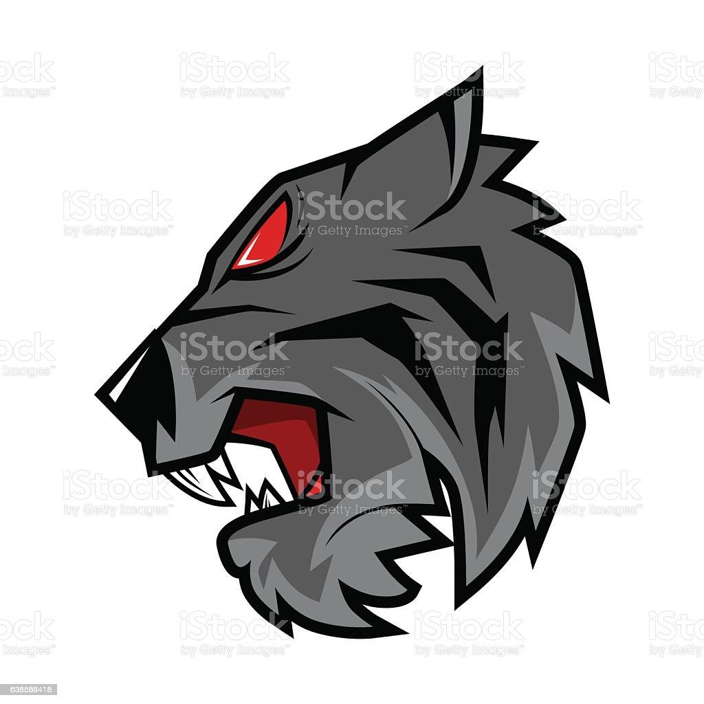 Black Tiger Head Vector