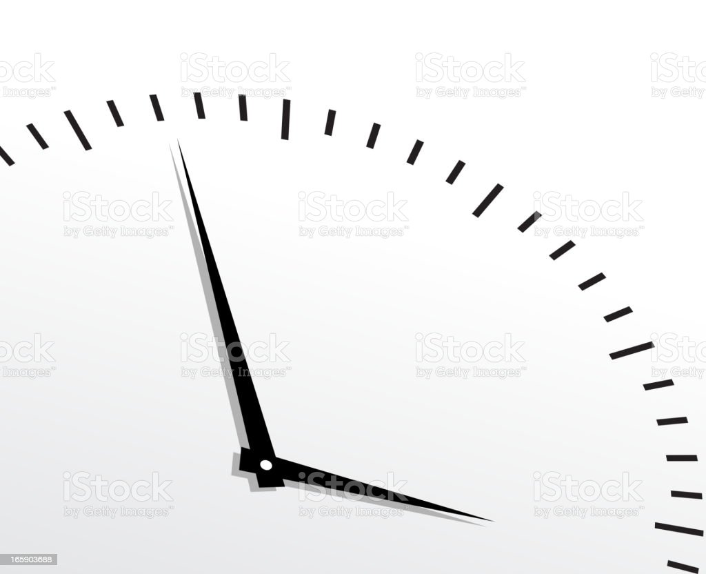 Black timer on white background royalty-free stock vector art