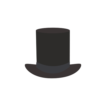 8b413b0ec Black Top Hat Vector Illustration Isolated On White Background Stock ...