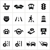 Black Traffic Icons