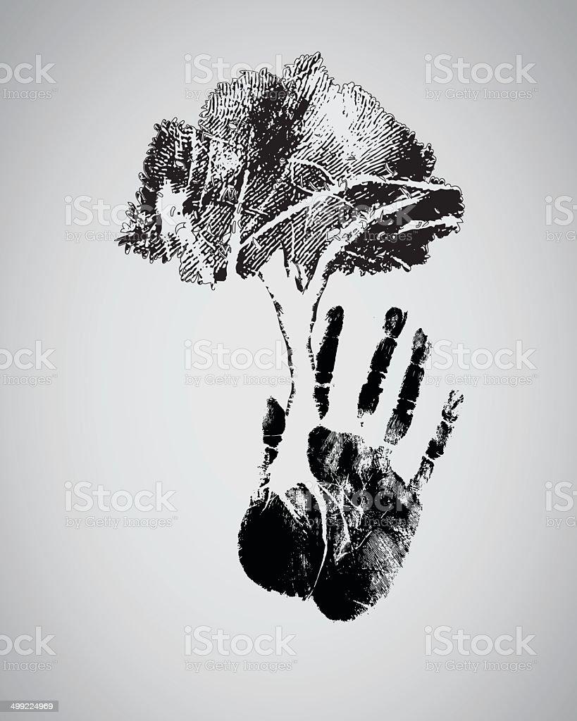 Silueta De árbol Negro Huella - Arte vectorial de stock y más ...
