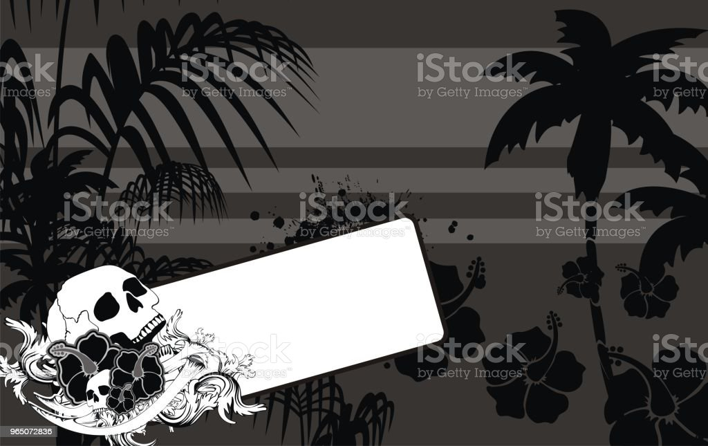 black tropic summer hawaiian background royalty-free black tropic summer hawaiian background stock illustration - download image now