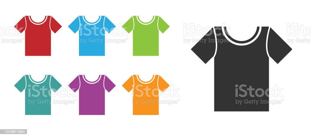 black tshirt icon isolated on white background set icons colorful vector illustration stock illustration download image now istock https www istockphoto com vector black t shirt icon isolated on white background set icons colorful vector gm1223611304 359490956