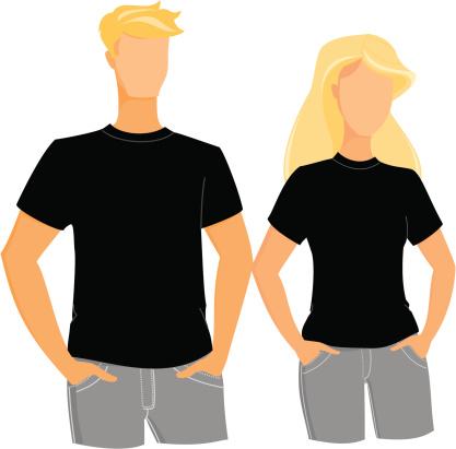 Black t-shirts template
