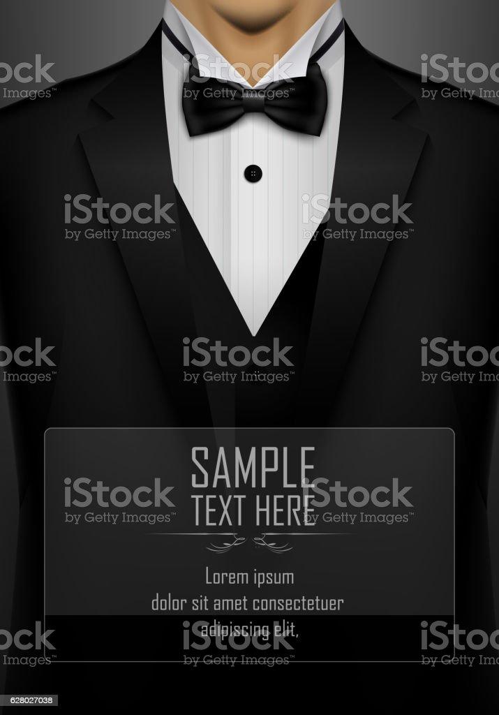 Black tuxedo with black bow tie download vetor e ilustrao black tuxedo with black bow tie download vetor e ilustrao royalty free ccuart Gallery