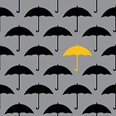 Black Umbrellas Seamless Pattern