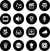 Black Vector Film Industry - 16 Icons