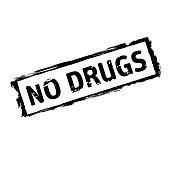 Black vector grunge stamp NO DRUGS