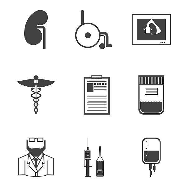 ilustrações de stock, clip art, desenhos animados e ícones de preto vetor ícones para nephrology - diálise