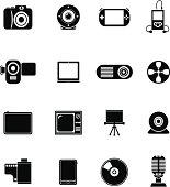 Black Vector Icons - Multimedia