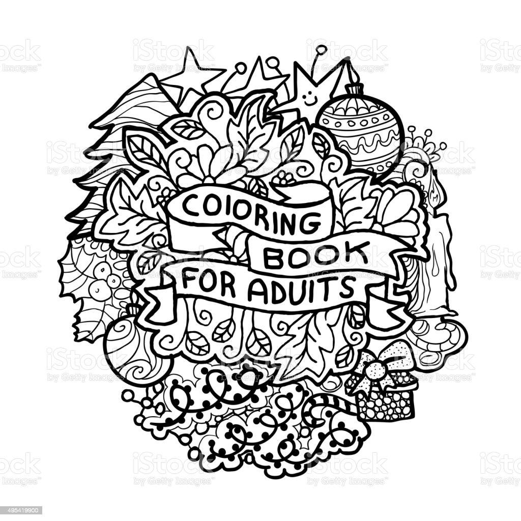 Mono De Color Negro Vector Ilustración Para Libro Para Colorear ...